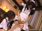 Cute Teen Sucks a Futanari Maid!