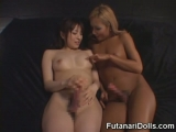 Futanari Squirts and Cums at the Same Time!