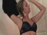 Horny transsexual rubbing his dick while butt licked