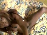 Ebony tgirl Nikki sucking massive hard cock